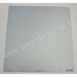 SCRAPBOOKING ADDICT PAPIER ARGENT IRISE LISSE BASICOLORS 125 gr 30.5cm x 30.5cm