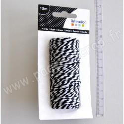 ARTEMIO TWINE 15 m BLACK & WHITE