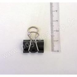 PINCE DOUBLE CLIP NOIRE 19 mm