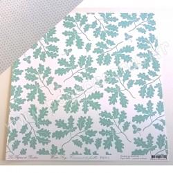 LES PAPIERS DE PANDORE WINTER SONG CRISSEMENT DES FEUILLES 30.5 cm x 30.5 cm