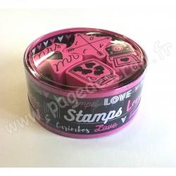 ALADINE STAMPO KDO LOVE 4 tampons + 1 encreur