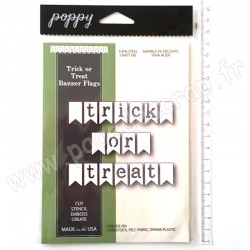POPPYSTAMPS TRICK OR TREAT BANNER FLAGS